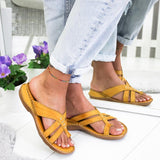 Women's Casual Comfy Toe Ring Criss-Cross Sandals - HiSheep