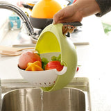 Anti-Spill Fruits and Vegetable Strainer Rotary Detachable - HiSheep