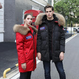 2019 Winter Men&Women High Quality Wind-resistant Fur Collar Hooded Down Jacket - HiSheep