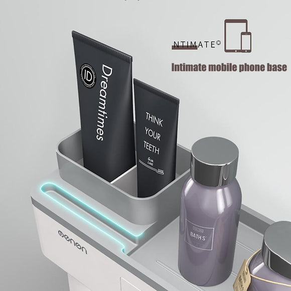 Magnetic Adsorption Inverted Toothbrush Holder - HiSheep