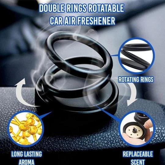 Double Rings Rotatable Car Air Freshener - HiSheep