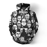 Fashion Male Female Unisex Horror Killer 3D Print Hoodies - HiSheep