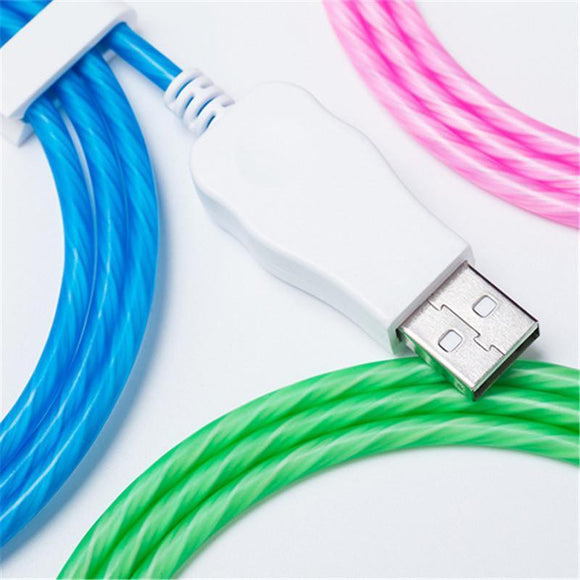 LED Lighting Flow Charger Cable Data USB Glow - HiSheep