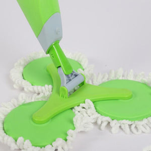 Three-Head Mop With Spray System - Household Cleaning Tool - HiSheep
