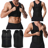 Men's Zipper Sauna Vest - Buy two free shipping! - HiSheep
