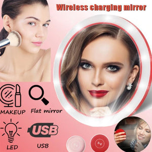 Wireless charging LED mirror - HiSheep