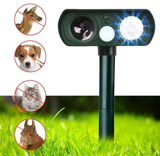LED And Ultrasonic Waterproof Animal Pest Repeller Outdoor Solar Powered - HiSheep