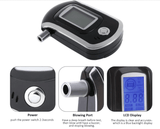 Police-grade Professional Alcohol Tester Breathalyzer with LCD Display And 5 Mouthpiece - HiSheep