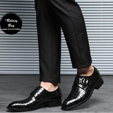 Buttoned Glossy Leather Shoes (FREE SHIPPING) - HiSheep