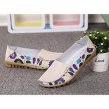 Hand Stitching Floral Loafers - HiSheep
