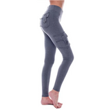 Eco-Friendly Bamboo Pockets Stretchy Soft Leggings Yoga Pants - HiSheep