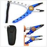 Aluminum Fishing Pliers Braid Cutter Hook with Pouch - HiSheep