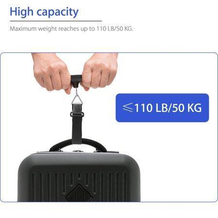 High Precision Digital Luggage Scale Maximum Weight 110lb - HiSheep