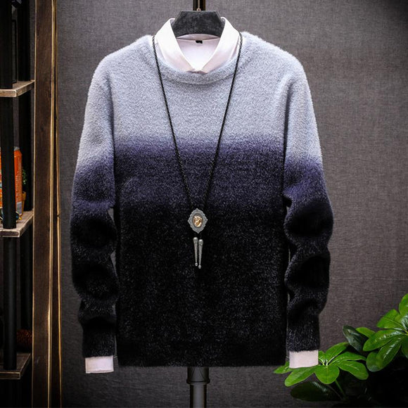 Mens Crew Neck Sweater Does Not Fall Sweater - HiSheep