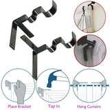 Double Center Support Curtain Rod Bracket(2pcs/3pcs) - HiSheep
