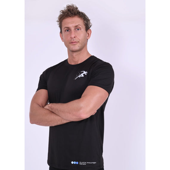 Men's Black Gym Top