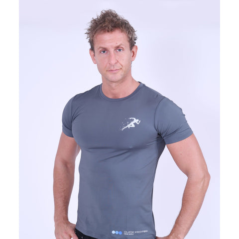 Men's Grey Gym Top