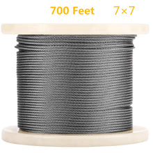 Senmit 1/8 Stainless Steel Aircraft Wire Rope for Deck Cable Railing Kit, 7 x 7 700 Feet T 316 Marine Grade - Senmit