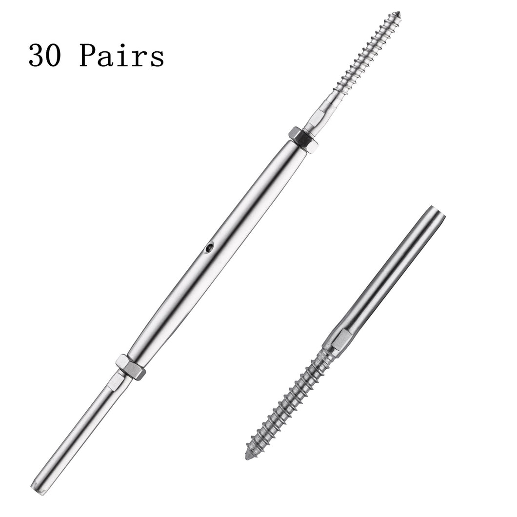 Senmit Lag Screw & Swage Tension Turnbuckle,for 1/8
