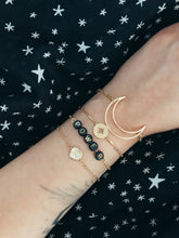 "Charger l'image dans la galerie, Bracelet ""WORDS"" black & gold"