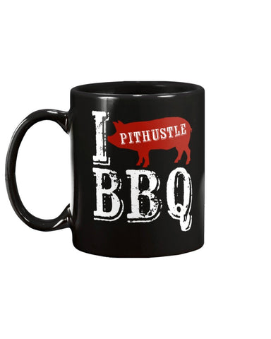 I BBQ Pit Hustle Red Pig BBQ Coffee Mug