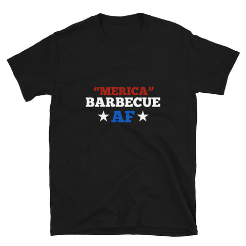 Merica Barbecue AF Short-Sleeve Unisex BBQ T-Shirt