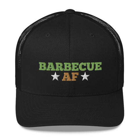 Barbecue AF Military BBQ Trucker Hat
