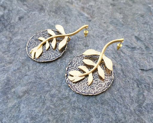 Earrings Gold Plated Brass  SR145