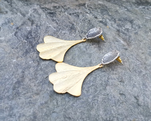 Earrings Gold and Antique Silver Plated Brass  SR152