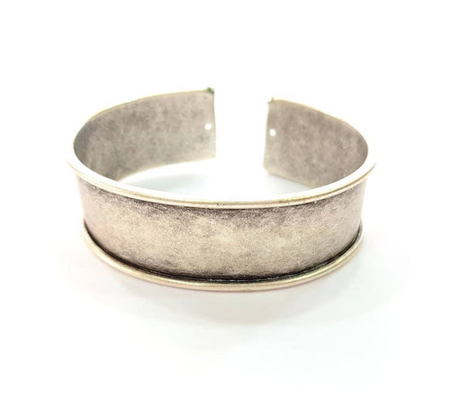 Bracelet Blanks Bangle Blanks Cuff Blanks Adjustable Bracelet Blank Antique Silver Plated Brass ( 20mm ) G8194