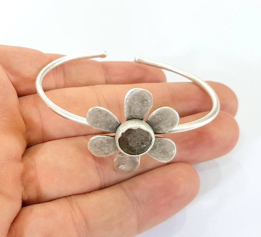 Bracelet Blanks Bangle Blanks Cuff Blanks Adjustable Bracelet Blank Antique Silver Plated Brass ( 10mm Blanks ) G7816