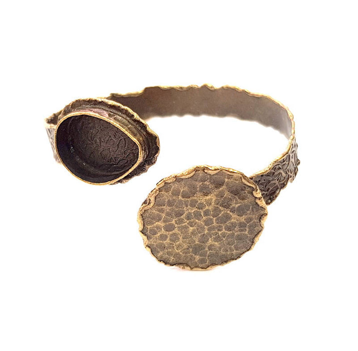 Bangle Blanks Antique Bronze Bracelet Blanks Cuff Blanks Adjustable Bracelet Blank Antique Bronze Plated Brass (30mm,20x15mm Blanks) G10098