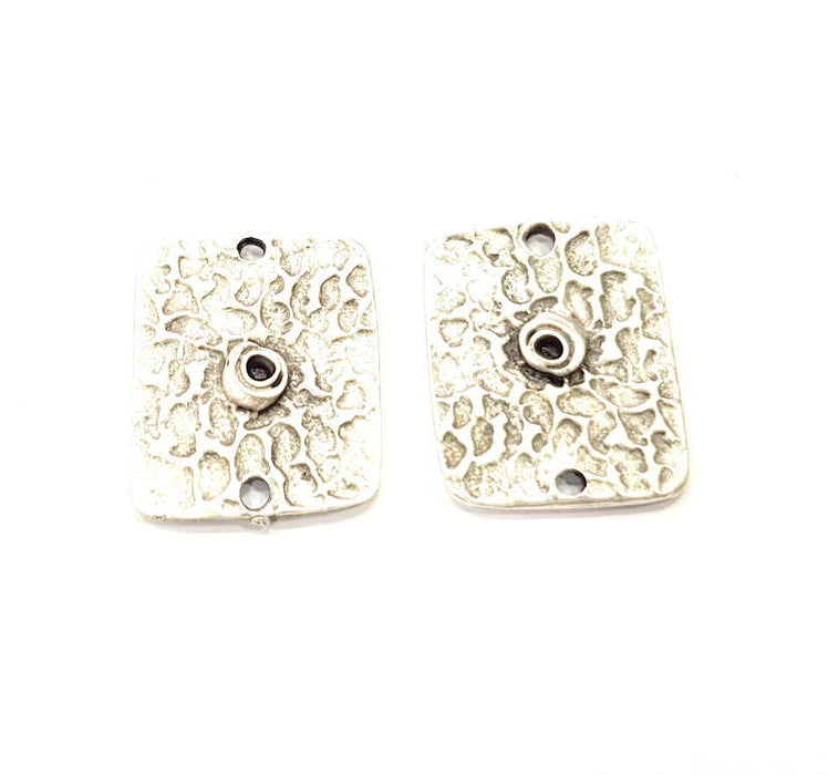 20 Silver Charms Antique Silver Plated Charms (24x19mm) G10310