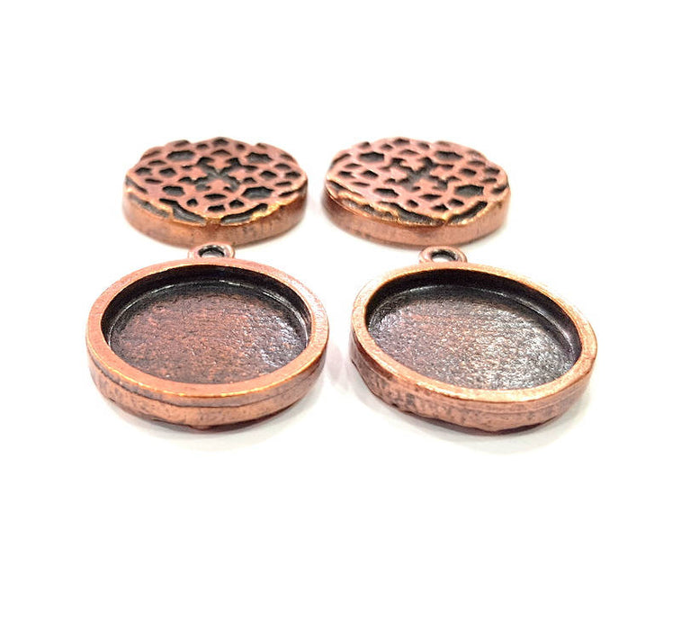 18x13mm,13x13mm blank G13201 Antique Copper Pendant Blank Mosaic Base Blank inlay Necklace Blank Resin Blank Mountings Copper Plated Brass