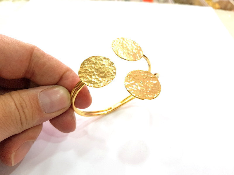 Gold Bangle Blanks Bracelet Blanks Cuff Blanks Adjustable Bracelet Blank Gold Plated Brass (23 mm Blanks ) G12674