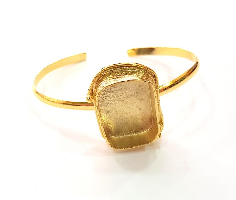 Gold Bangle Blanks Bracelet Blanks Cuff Blanks Adjustable Bracelet Blank Gold Plated Brass (25x18 mm Blanks ) G12680