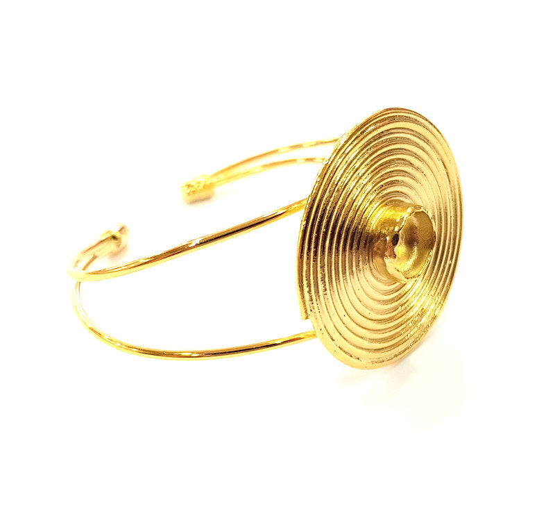 Gold Bangle Blanks Bracelet Blanks Cuff Blanks Adjustable Bracelet Blank Gold Plated Brass (10 mm Blanks ) G12709