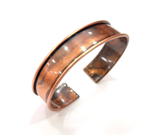 Copper Bracelet Blanks Bangle Blanks Cuff Blanks Adjustable Bracelet Blank Antique Copper Plated Brass (15mm ) G13556