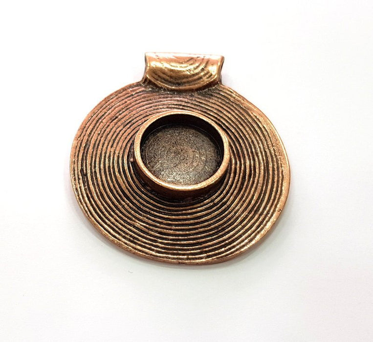 G13273 Antique Copper Pendant Blank Mosaic Base Blank inlay Necklace Blank Resin Blank Mountings Copper Plated Brass 20x15 mm blank