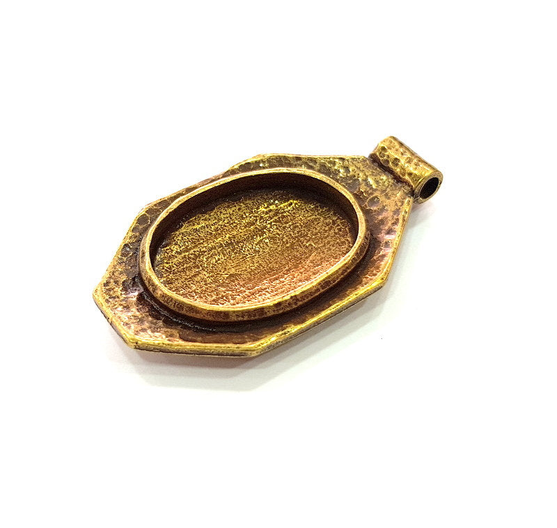Antique Bronze Pendant Blank inlay Blank Mosaic Blank Resin Blank Bezel Base Setting Mountings Antique Bronze Plated(29x21mm blank) G14179