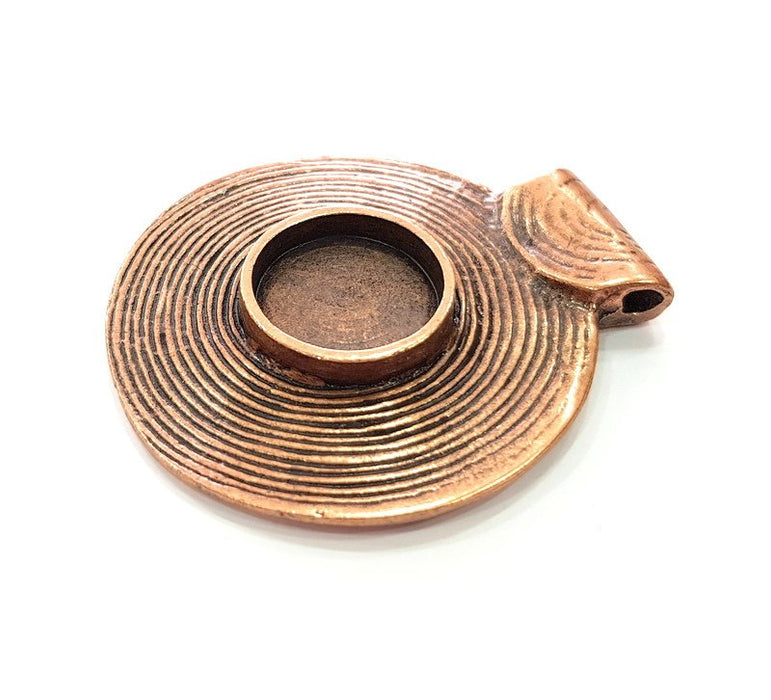 G13265 Antique Copper Pendant Blank Mosaic Base Blank inlay Necklace Blank Resin Blank Mountings Copper Plated Brass 10 mm blank
