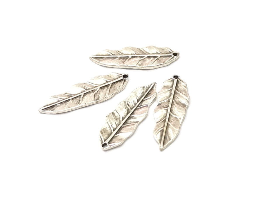 4 Leaf Charms Antique Silver Plated Charms (34x11mm)  G16557
