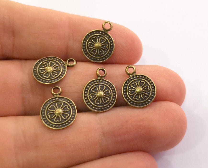 10 Antique Bronze Charms Antique Bronze Plated Charms (15x11mm)  G18607