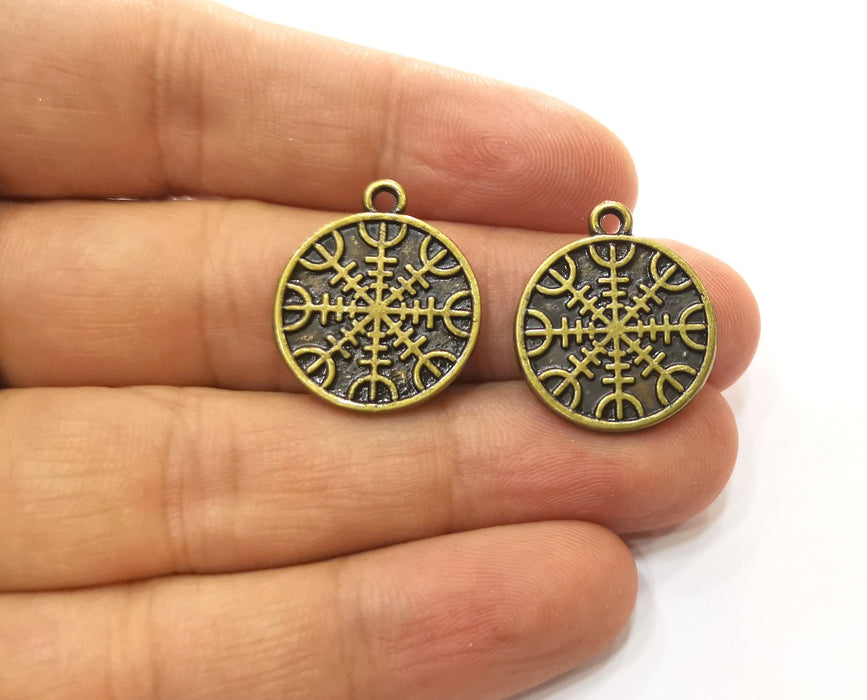 4 Antique Bronze Charms Antique Bronze Plated Charms (23x20mm) G18548