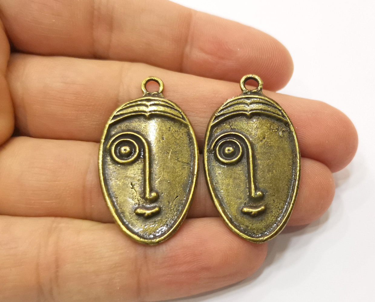 2 Antique Bronze Charm Antique Bronze Plated Charm (38x22mm) G19320