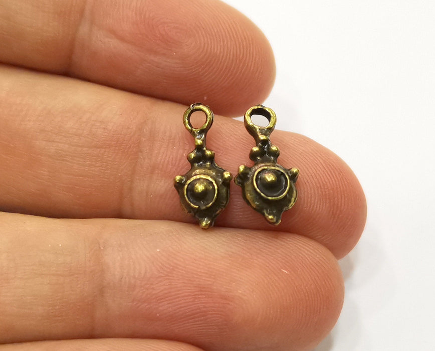 20 Antique Bronze Charm Antique Bronze Plated Charms (16x7mm) G19326