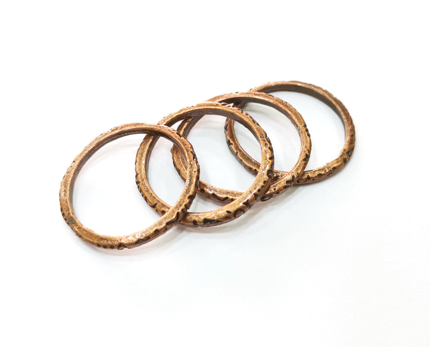 5 Copper Circle Connector Antique Copper Plated Circle (28x27mm) G19266