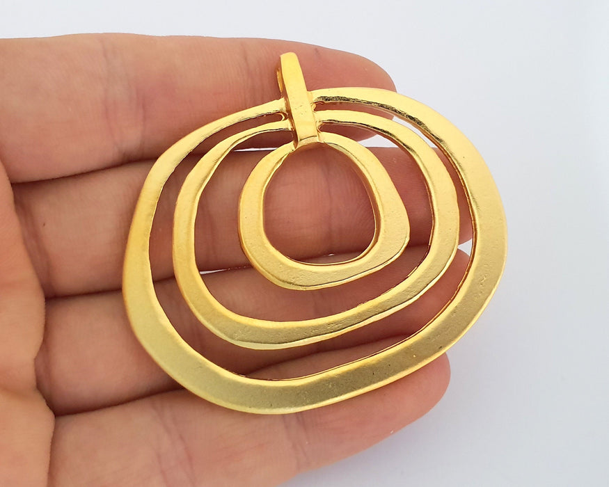 Gold Large Pendant Gold Plated Pendant (59x53mm)  G19773