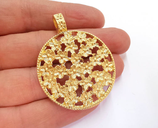 Flowers Pendant Gold Plated Pendant (55x43mm)  G20989