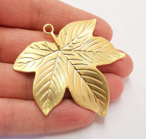 Leaf Pendant Gold Plated Pendant  (58x55 mm)  G21329